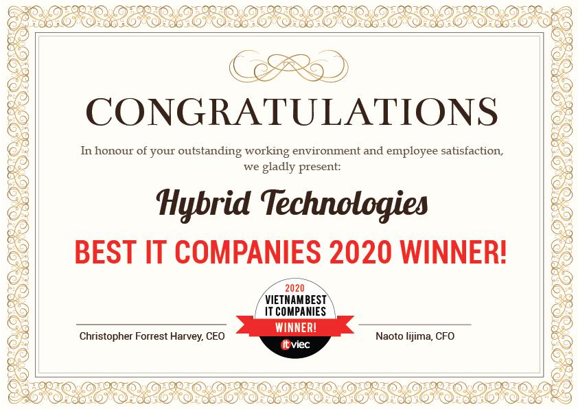 HYBRID TECHNOLOGIES - Top 15 Công ty IT tốt nhất Việt Nam
